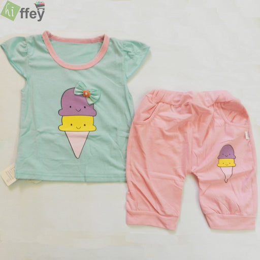 Collection By KISSBEE- Arctic T-Shirt And Pink Color Trouser - Hiffey
