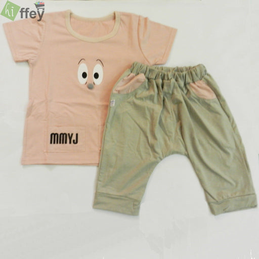 Collection By KISSBEE- Pink T-Shirt And Grey Color Trouser - Hiffey