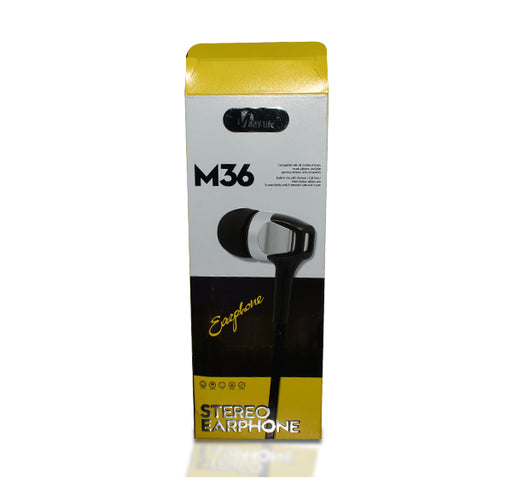 My Life Stereo Earphone M36 - Black - Hiffey