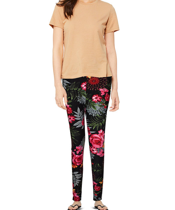 Casual Ladies Flower Printed Tights