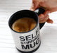 Self Stirring Tea Mug 350ml - Silver - Hiffey