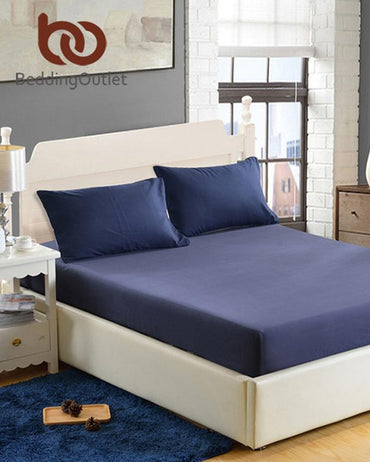 Jersey Fitted Bed Sheet - Navy Blue