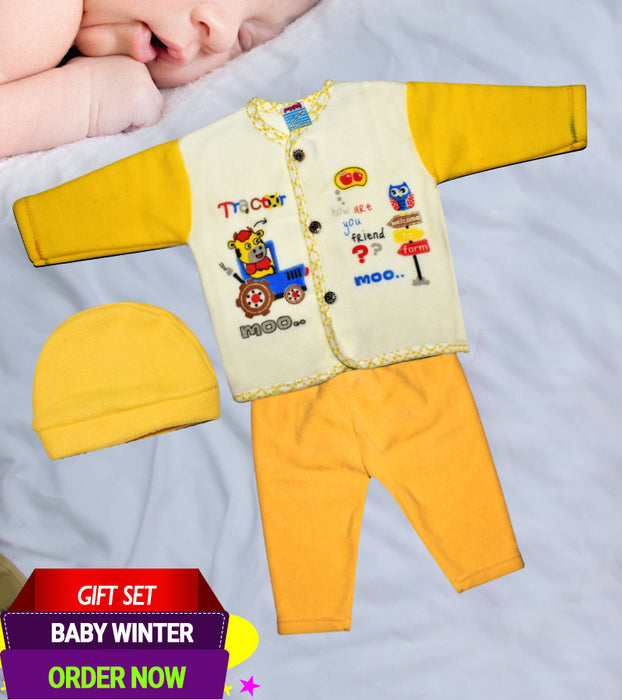 Newborn Winter Warm Baby Suits - 3 Piece