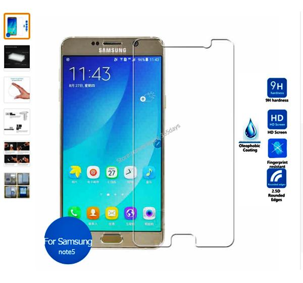 Screen Glass Protector for Samsung Galaxy Note 5 - Hiffey