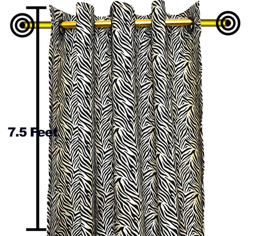 Velvet Stripes Wall Curtain Pair Of 2 - Cream - Hiffey