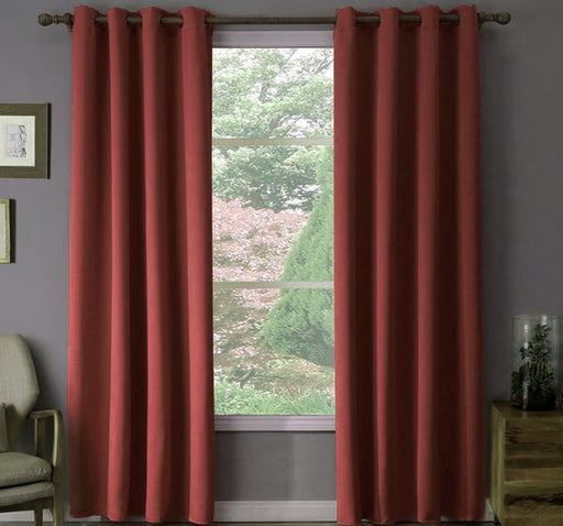 Plain Silk Satin Velvet Wall Curtain Pair Of 2 - Brown - Hiffey
