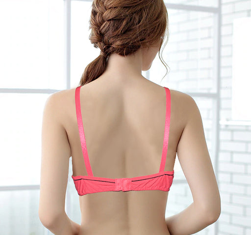 Simple Plain & Soft Light Weight Non Padded Bra - Baby Pink
