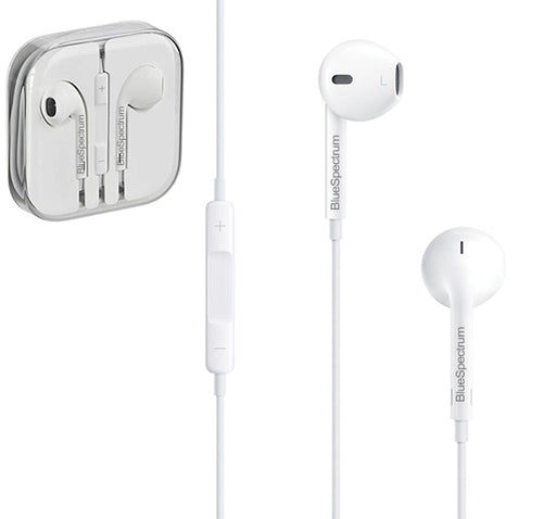 Blue Spectrum High Fidelity R-1 Stereo Earphone - White - Hiffey