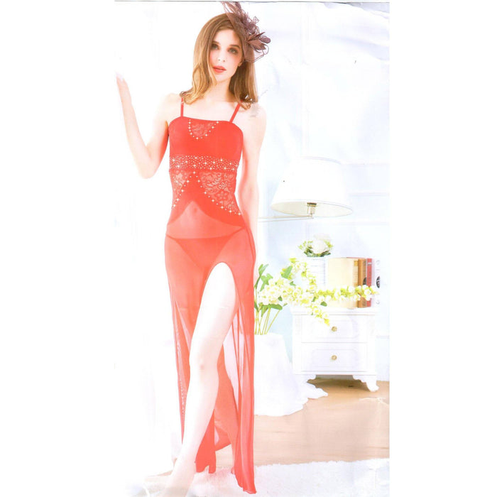 Rose Pink Long Gown Stylish Nighty for Women