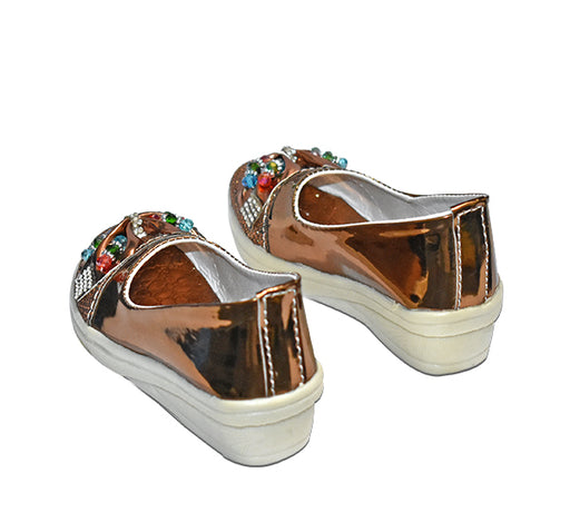 Front Butterfly Brown Sandal For Girls - Hiffey