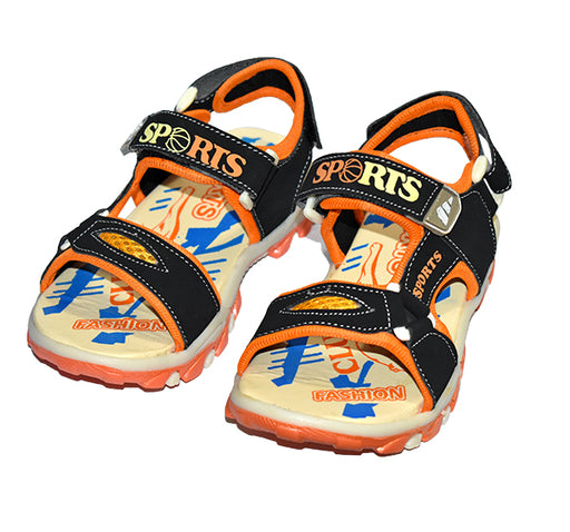 Fashion Sports Sandal For Boys - Orange - Hiffey