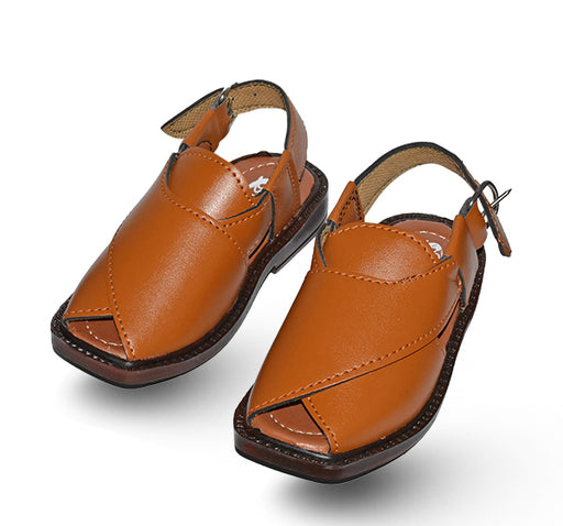 Peshawari Sandal For Boys - Brown - Hiffey