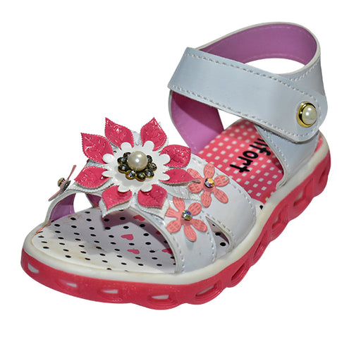 Pearls Flower Sandal For Girls - Hiffey