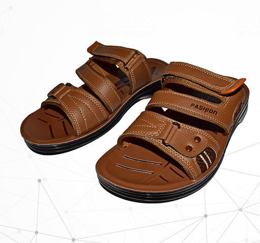 Men Fashion Front Chip Style Foot Wear Chappal - Brown