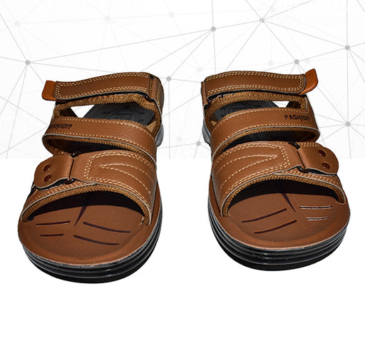 Men Fashion Front Chip Style Foot Wear Chappal - Brown - Hiffey