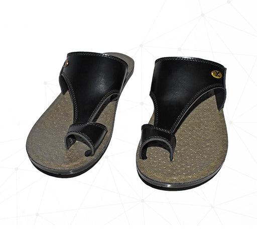 Men Union Foot Wear Chappal - Black - Hiffey