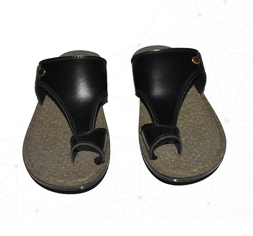 Men Union Foot Wear Chappal - Black