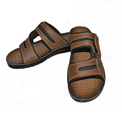 Men Fashion By 7Eleven Style Foot Wear Chappal - Brown