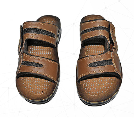 Men Fashion By 7Eleven Style Foot Wear Chappal - Brown - Hiffey