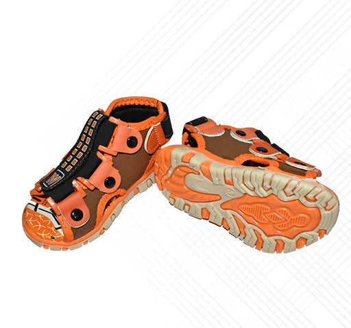 Orange Sandal For Boys - Hiffey