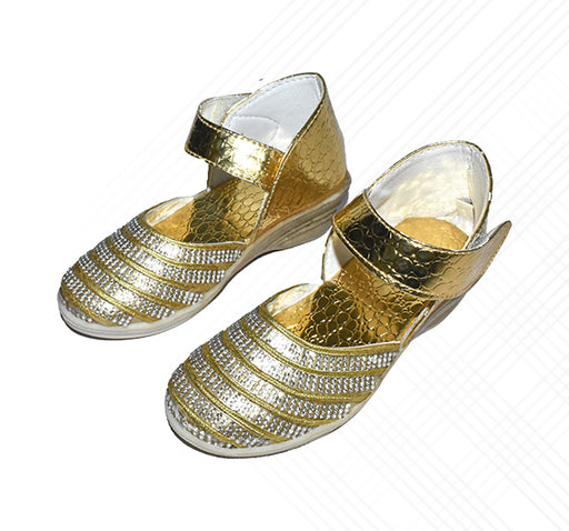 Kids Golden Sandal For Girls - Hiffey