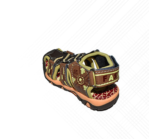 Zikzak Style Sandal For Boys - Brown - Hiffey
