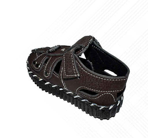 Kids Chip Sandal Dark Brown - Hiffey