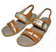 Medium Heel Comfortable Sandal For Ladies - Brown - Hiffey