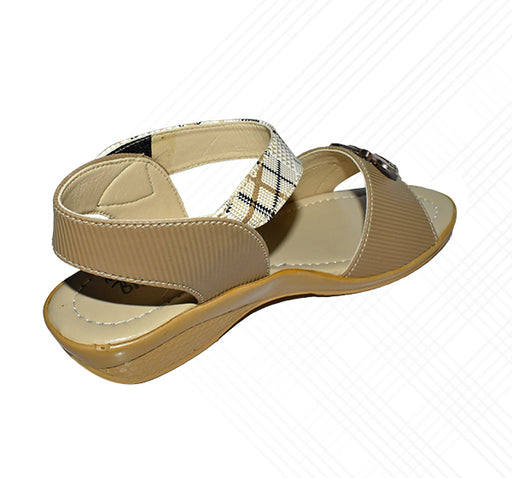 Front Butterfly Sandal Ladies - Light Brown - Hiffey