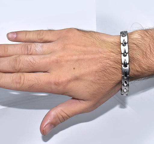 Wheat Chain Stainless Steel Bracelet For Men - Silver - Hiffey