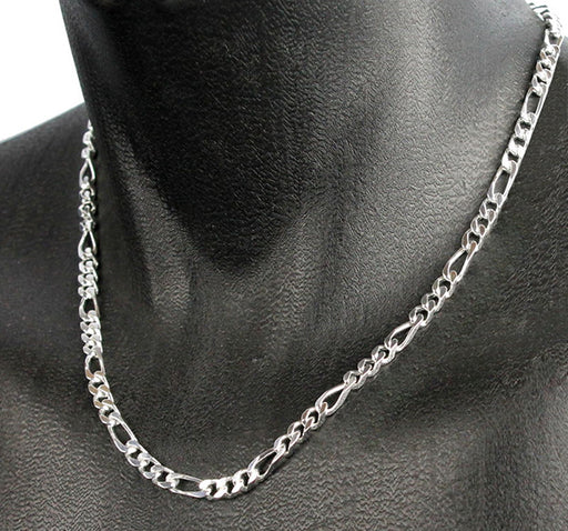 Super Stylish Stainless Metallic Chain For Men - Silver - Hiffey