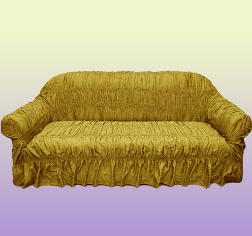 Swirl Design Comfortable Fancy Sofa Cover - Yellow - Hiffey