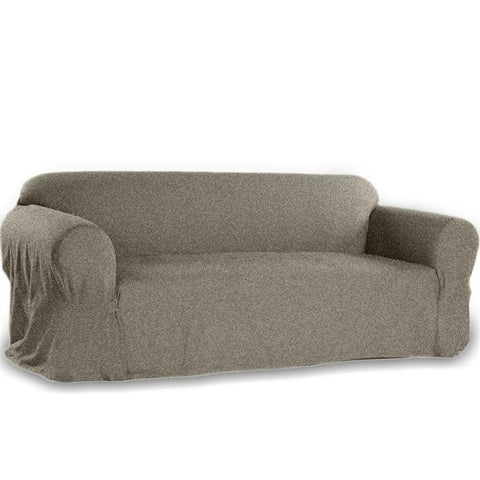 7 Seats Jersey Sofa Cover - White Gray