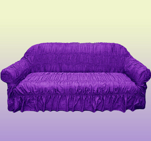 Swirl Design Comfortable Fancy Sofa Cover - Purple - Hiffey