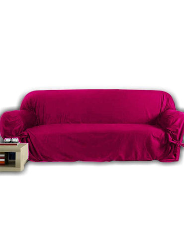 5-Seats Jersey Sofa Cover  -  Dark Pink