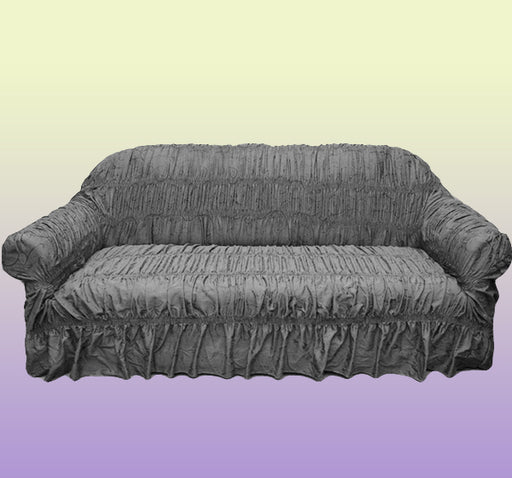 Swirl Design Comfortable Fancy Sofa Cover - Grey - Hiffey