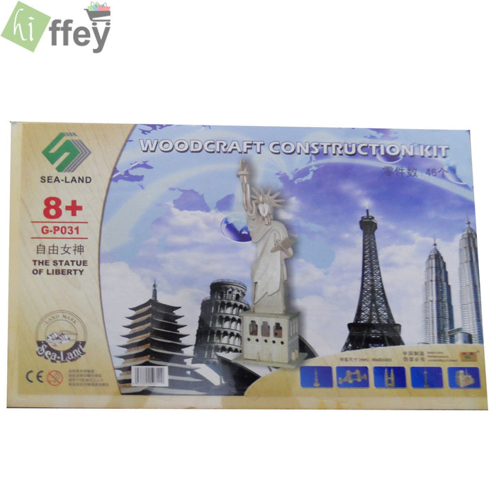 3D Puzzle Toy - Statue of Liberty Woodcraft Construction - Hiffey