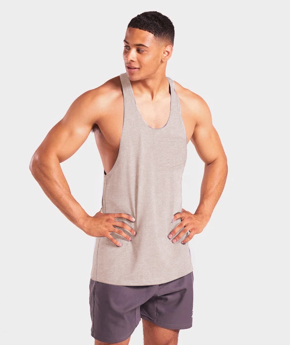 Oakley Men Gym Training Workout Sando - Greyish