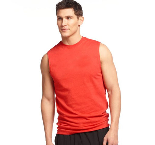 Round Neck Cotton Muscle Casual Sleeveless Sando For Men - Maroon - Hiffey