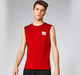 Round Neck Cotton Muscle Casual Sleeveless Sando For Men - Red - Hiffey