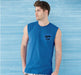 Round Neck Cotton Muscle Casual Sleeveless Sando For Men - Blue - Hiffey
