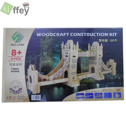 3D Puzzle Toy - Tower bridge Woodcraft Construction - Hiffey