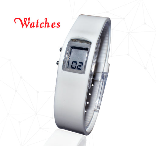 Square Digital Step Watch - White - Hiffey