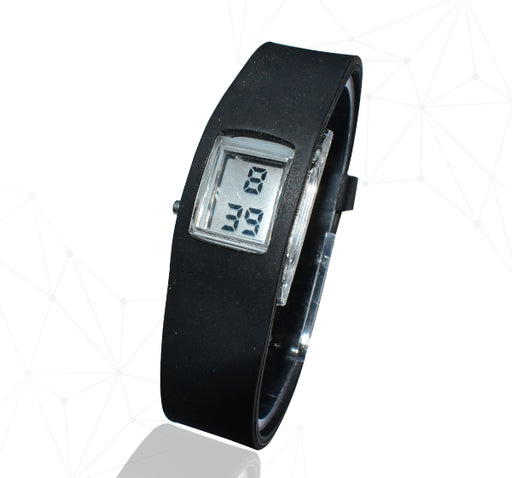 Square Digital Step Watch - Black - Hiffey