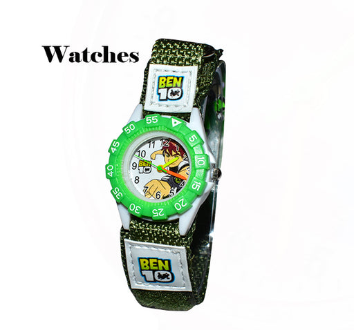 Kids Cartoon Ben10 Watch with Nylon Straps - Hiffey
