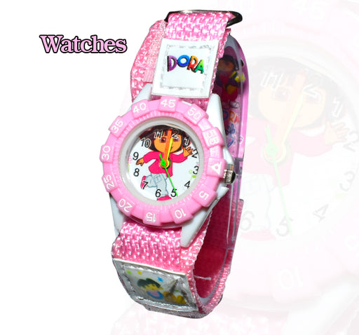 Kids Cartoon Dora Watch with Nylon Straps - Hiffey