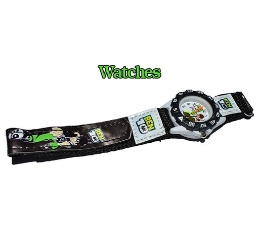 Cartoon Ben10 Watch with Nylon Straps for Kids - Hiffey