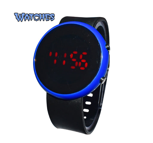 LED Round Dial Watch for Kids - Blue - Hiffey