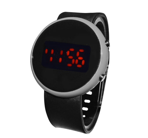 LED Round Dial Watch for Kids - Grey - Hiffey