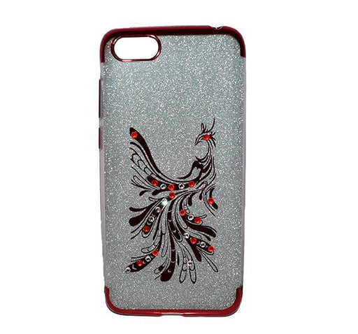 Huawei Y5 - Premium Quality Glitter Mobile Cover - Red - Hiffey